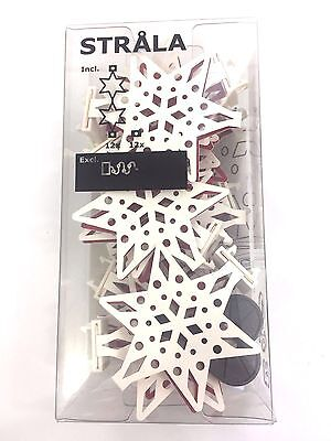 NEW Ikea Strala 402 879 72 Snowflake Christmas Lights Ornaments Decor