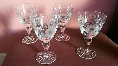 4 X Royal Albert Old Country Roses Sherry / Port Glasses