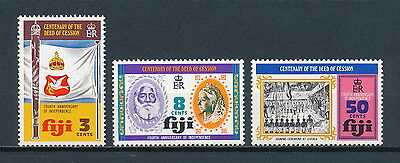 Fiji #354-6 MNH, 4th Anniversary of Independence, 1974