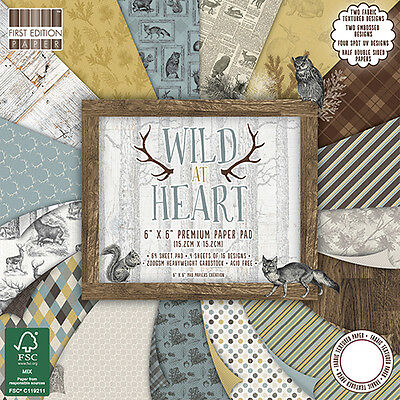"""WILD AT HEART - First Edition Papers - 6""""x6"""" Taster Pack of Papers"""