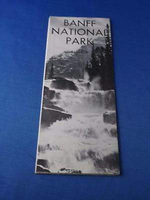 Banff National Park Alberta Canada Travel Advertising Brochure Map 1961
