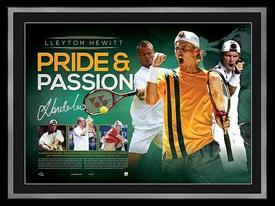Lleyton Hewitt - Pride and Passion Retirement Signed Tribute Unframed WHOLESALE