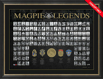 Magpie Legends Collingwood 125th Anniversary Deluxe Print UNFRAMED WHOLESALE