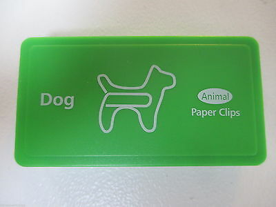 Box of Cute Dog Shaped Paper Clips / Novelty Animal Shaped Paperclips