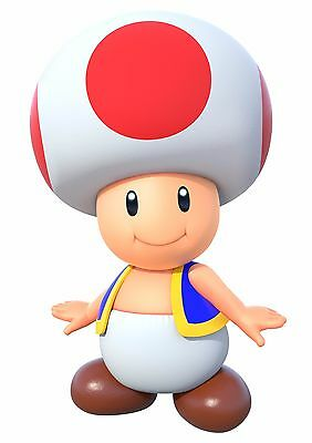 Sticker Autocollant/poster A4 Nintendo Toad