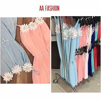 Wholesale joblot Ladies Flower Rope Dresses Mix Colours 3 Pcs 1 Size Fits All