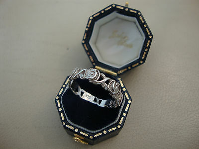 Modern 925 sterling silver ring in old vintage Mackintosh art nouveau style
