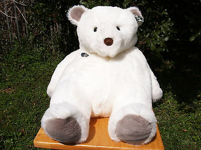 "Rare Vintage Gund-Jumbo Berg Polar Bear-#2181-1984-24""-Collectors Class-All Tags"