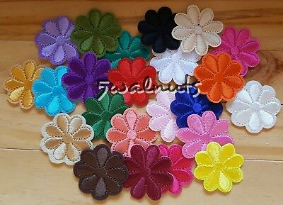5pcs Mixed colours Iron on Embroidered Daisy Flowers Patch Applique Motif Badge