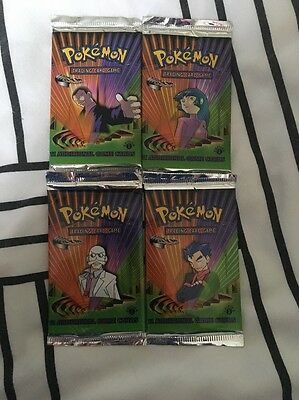 Pokemon 1st Edition Gym Challenge Booster Pack Set X4