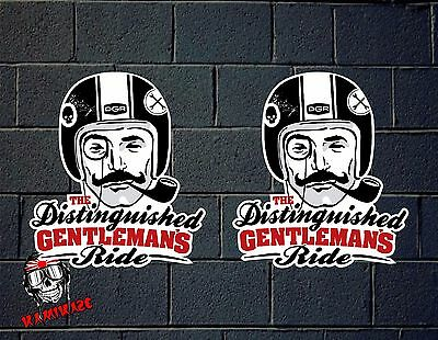 Pegatina Sticker Autocollant Aufkleber Decal The Distinguished Gentlemans Ride