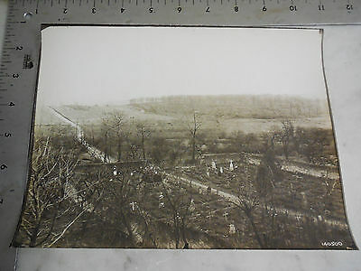 #55 WWI Photo 5th Air Corp 1st Army MONTFAUCON Battlefield Cemetery Grave Yard