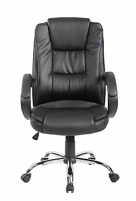Executive Office Desk Chair Computer Racing Task Ergonomic Swivel Hi-Back Black