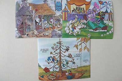 Romania  Disney/ Cartoons 3 Souvenir Sheets And 2 Sets 18 St.hcv $Can190  Mnh