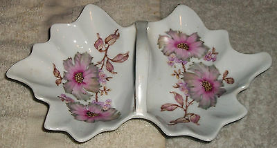 Vintage Mitterteich Bavaria Germany 088 6115 Gold Trim Floral China Tray