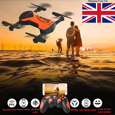 628 Mini 2.4G Pocket Foldable Drone With Camera Wifi FPV Quadcopter UK!