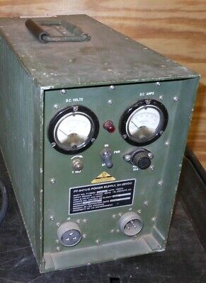 USMC POWER SUPPLY PP-8474/G MILITARY RADIO 24 18-30 VOLT DC 60A SINCGARS w Cable
