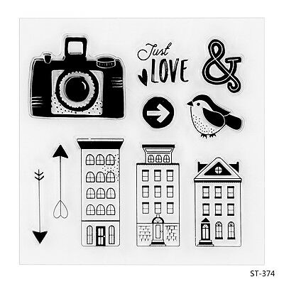 Buildings Design Clear Stamp for DIY Decor Scrapbooking Photo Album Gift Card
