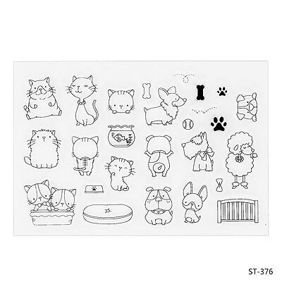 Little Animals Design Clear Stamp for DIY Decor Scrapbooking Photo Craft Card