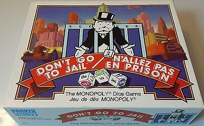 Rare Vintage Don't Go To Jail Board Game By Parker Brothers *100% Complete*