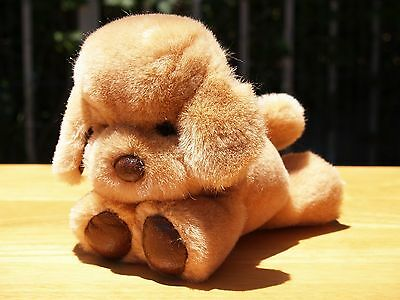 "Rare Vintage -Gund Dogfeat -Puppy Dog -7"" - Honey Brown  - #1345 -1983- Restored"