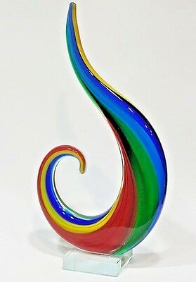 Colorful Art Glass Sculpture Statue Figurine Rainbow Gift Home Decor New 13""