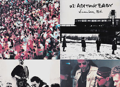 Ultra-Rare U2 Achtung Baby Special Opening Day Only Mini-Poster ONLY 1 ON EBAY!