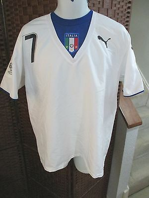 Italy Alessandro Del Piero 2006 World Cup Soccer Jersey PUMA Size Mens XL