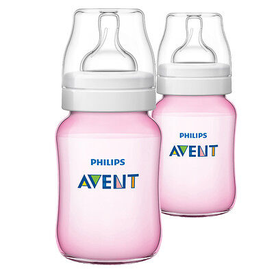 Philips Avent Classic Feeding Bottle 260Ml Pink 2 Pack