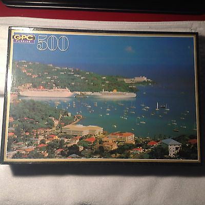 VINTAGE GPC Regency Collection Puzzle St Thomas Havensight 500 pieces sealed