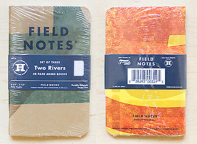 FIELD NOTES Two Rivers, Spring 2015 - 3 Sealed Notebooks Letterpress Wood Type F
