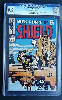 Nick Fury Agent Of Shield #7 • Cgc 9.2 (Nm-) • Steranko Salvatore Dali Cover