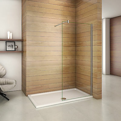 1500x760mm Stone Tray Easyclean Glass Walk In Wet Room Shower Enclosure Screen Q