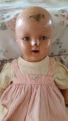 Antique 1940 Vintage Doll With Teeth And Closing Eyes