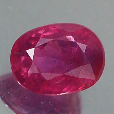 1.02Ct Certified Unheated Untreated Oval Red Ruby Natural