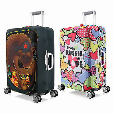 """Elastic Travel Dust-proof Cover Luggage Suitcase Spandex Cover Protector 18""""~30"""""""