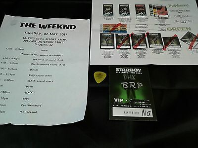 The Weeknd Starboy Legend Of The Fall Tour Schedule Guitar Pick Used VIP Pass