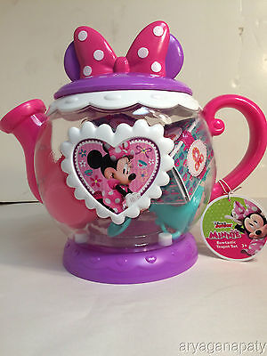Disney Junior Minnie Mouse Bowtastic Teapot Playset Ages 3+ NEW with hangtag