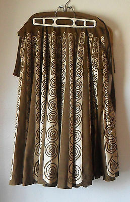 Vintage Mocambo Rather Long SKIRT Very Large Circumference Sequins, Swirls Sz 18