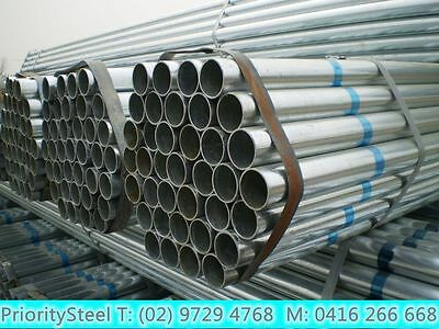 $22 Only!! Galvanised Round Posts/ Tube/ Pipe/ Steel /  6m long/ OD42mm