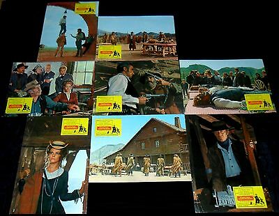 1968 Once Upon a Time in the West ORIGINAL SPAIN LOBBY CARD SET Sergio Leone
