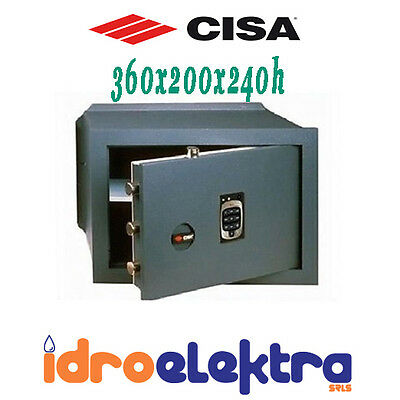 Cassaforte Elettronica Cisa 360X200X240H Con Combinatore Digitale In Acciao