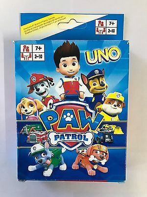 PAW PATROL UNO CARDS Family Fun Playing Card Game Toy Board Game