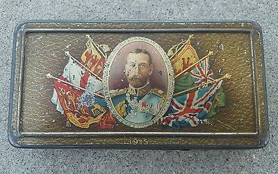 Antique 1915 Rowntree & Co. King and Queen Chocolate and Cigarette Tin