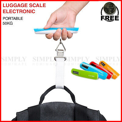 Electronic Portable Digital Luggage Scale 50kg Weighing Travel Bag Handheld