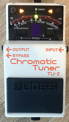 BOSS TU-2 Chromatic Tuner Pedal Guitar Bass Power Supply Mute #1