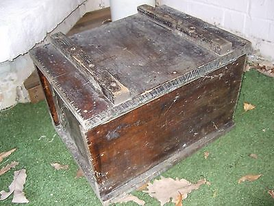 Rustic metal lined timber box/chest/trunk