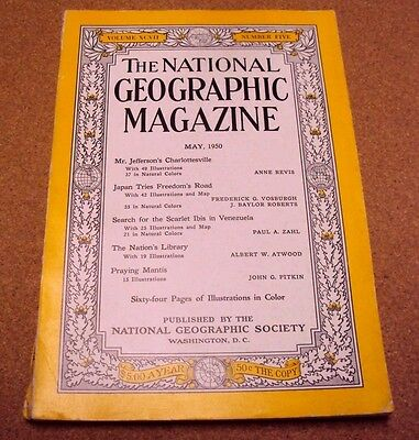 National Geographic Magazine May 1950 Japan Nation's Library Charlottesville