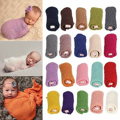40*150cm Newborn Baby Knitted Wrap Photography Prop Kids Swaddle Blanket Wraps