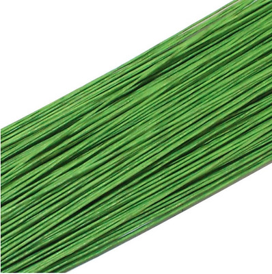 50PCS Green #26 Paper Covered Wire DIY Nylon Stocking Flower Making